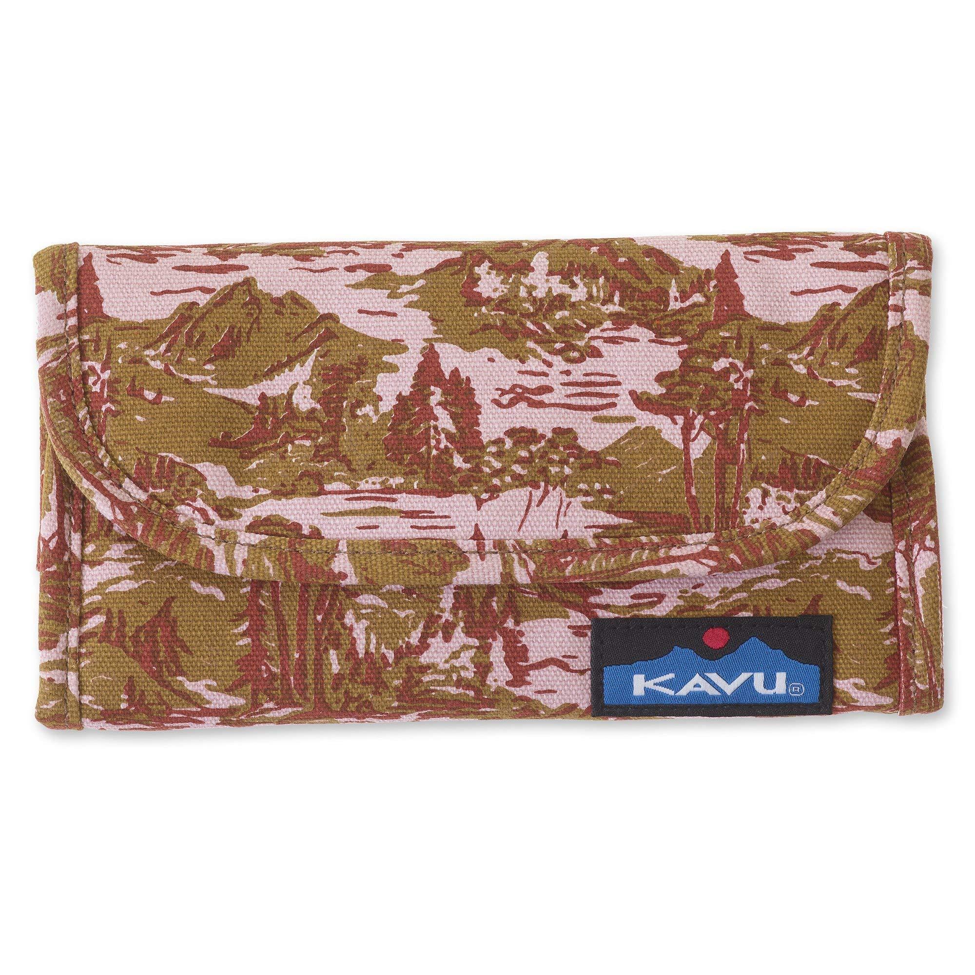 KAVU Big Spender Tri-fold Wallet Womens Clutch Travel Organizer - Blush Landscape by KAVU