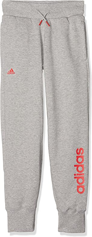 adidas Yg ESS Lin P Ch Pantalón, Niñas, Gris (Brgrin/Rojray), 12 ...
