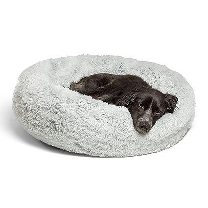 Best Friends by Sheri Luxury Cama para perro (múltiples tamaños) - Cojín redondo para
