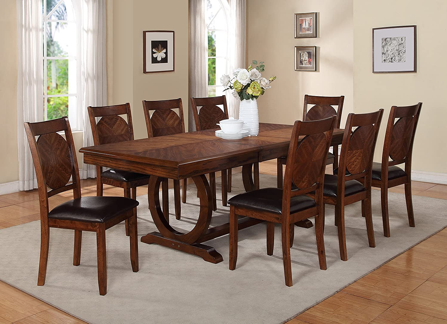 Amazon.com   Milton Greens Stars 8878DB Vernon Dining Table, 84 By 42 By  30 Inch, Dark Brown   Tables