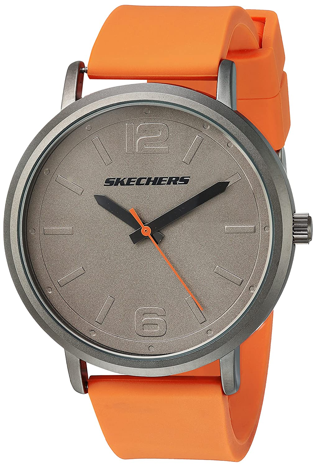 Amazon.com: Skechers Mens Ardmore Quartz Metal and Silicone Casual Watch Color: Grey, Orange (Model: SR5048): Watches