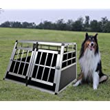 FoxHunter Aluminium Dog Puppy Cat Pet Cage Kennel Animal House Portable Transport Travel Divider Crate Carrier Box Training Double Door Small Sturdy PCA02