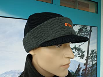 ea2835f39fe Image Unavailable. Image not available for. Colour  Stihl Stihl Snowboarder  Winter Beanie Hat with Embroidered Logo