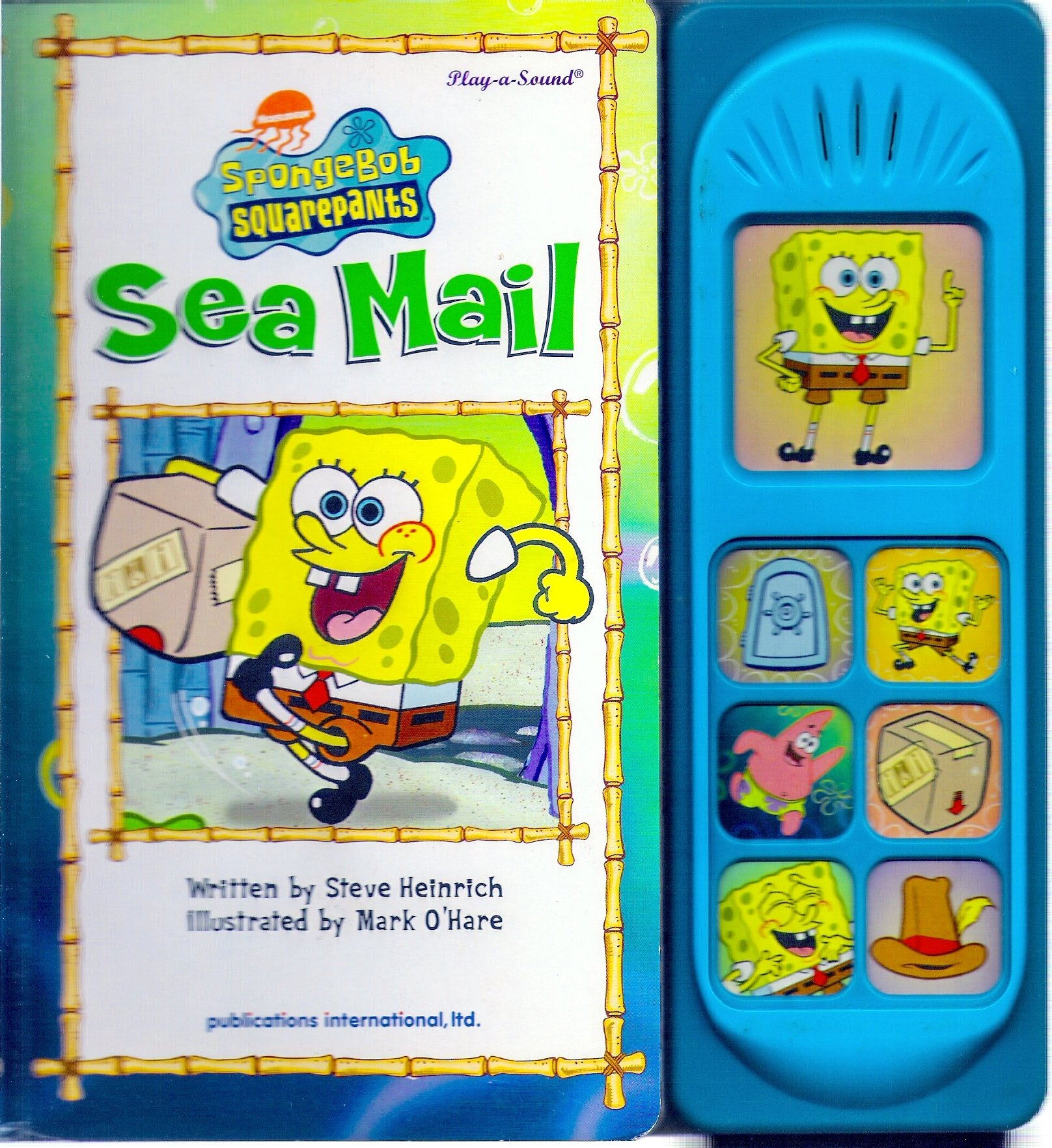 sea mail sponge bob u0026 squarepants sound book stephen hillenburg