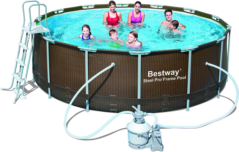 Bestway - Piscina Steel Pro Rattan 427 x 122 cm + depuradora arena ...