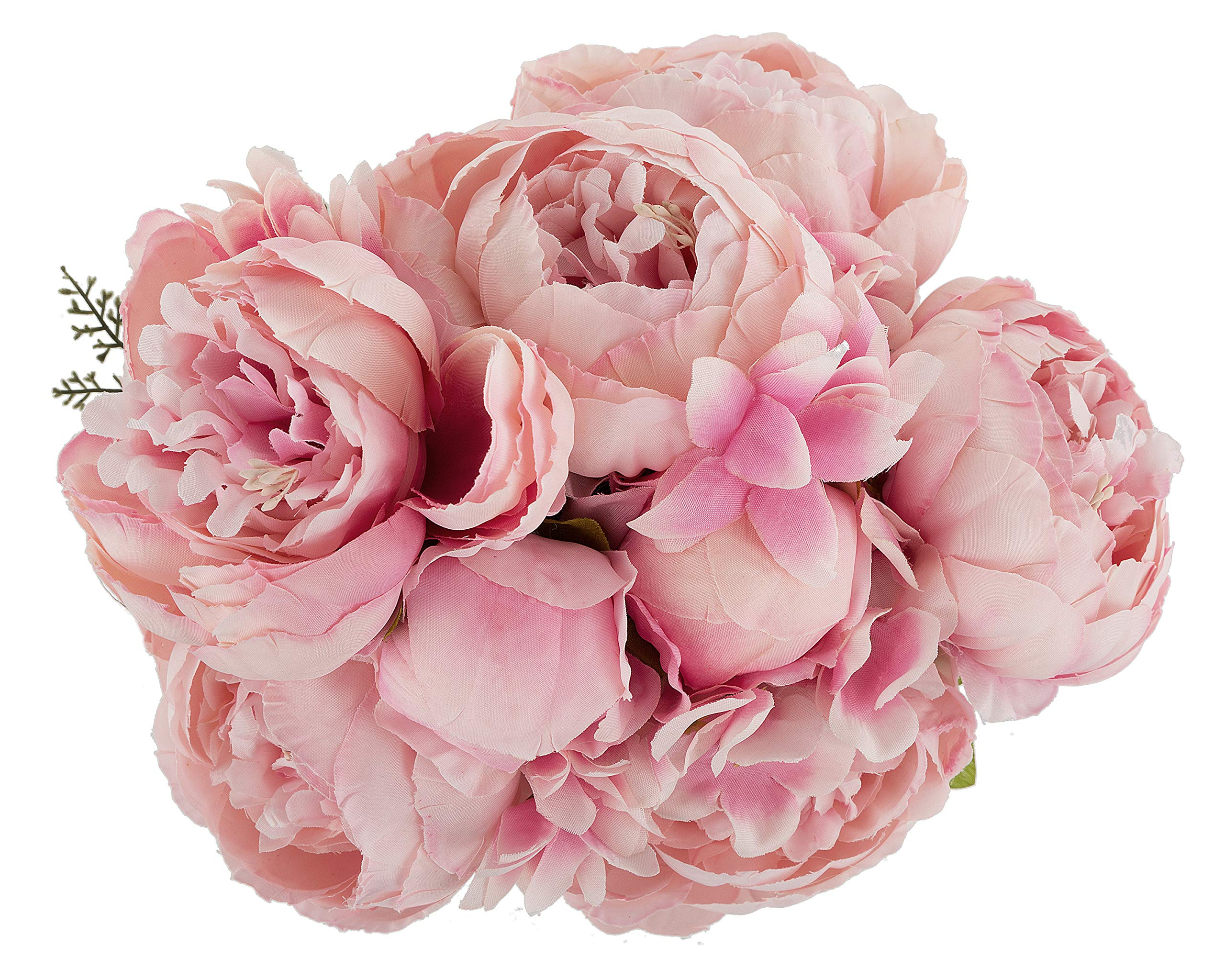 silk flower arrangements ezflowery 1 pack artificial peony silk flowers arrangement bouquet for wedding centerpiece room party home decoration, elegant vintage, perfect for spring, summer and occasions (1, soft pink)