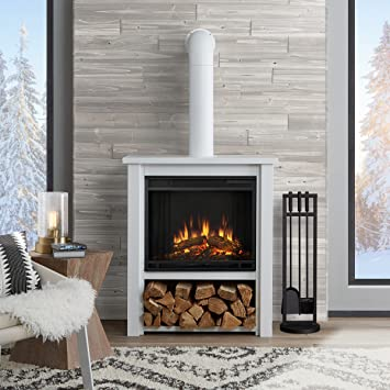 Real Flame 5005E Hollis Electric Fireplace   White