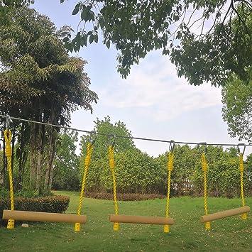 CRESTWALKER 3 PCS Kids Ninja Line Monkey Bars for Kids Obstacle Course Ninjaline Accessories Trapeze Swing Bars