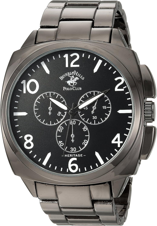 Us Beverly Hills Polo Club Aleación De Metal Y De Cuarzo Reloj Casual De Los Hombres Color Gris Modelo 53570 Watches