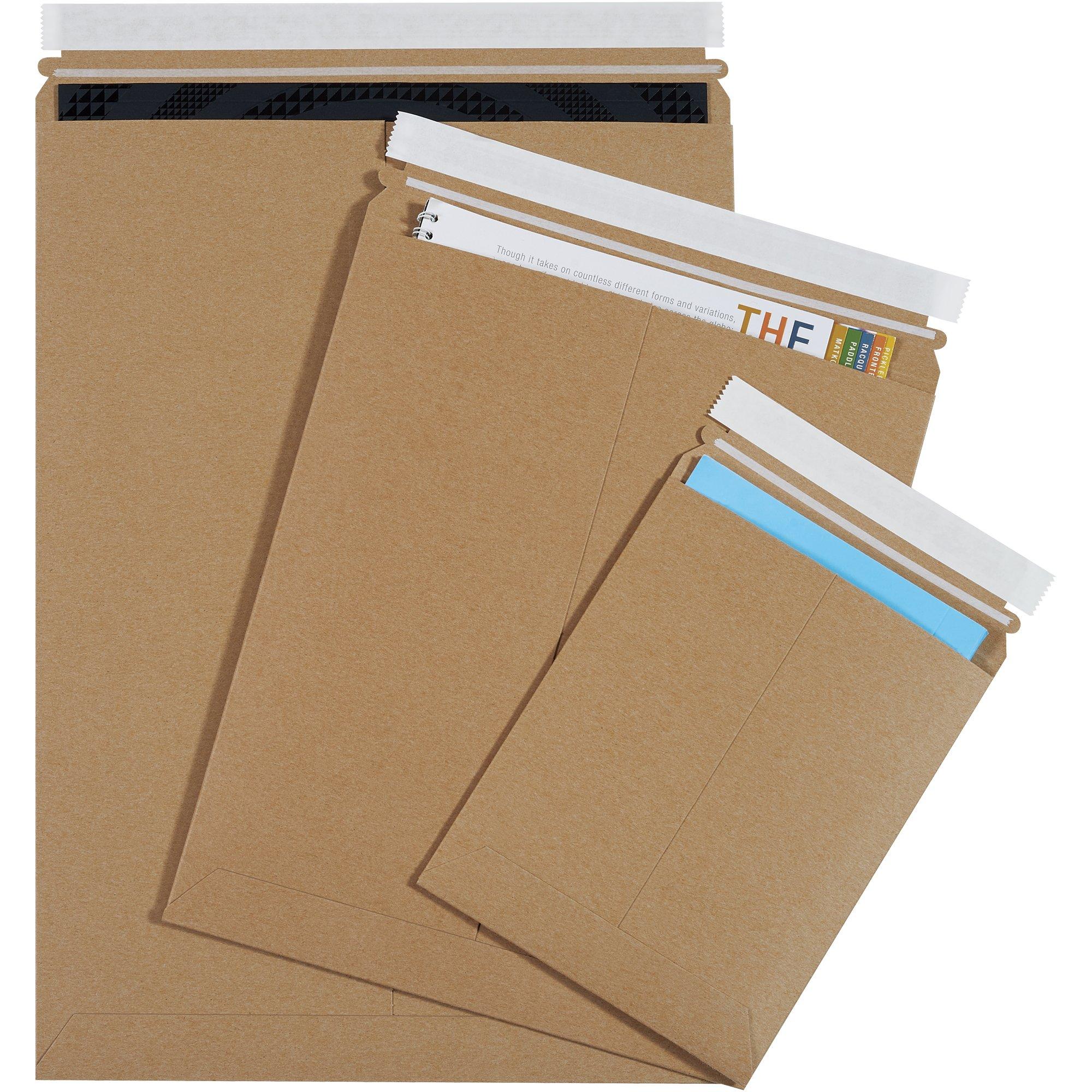 Aviditi RM12PSK Self Sealed Flat Mailer, 27'' Length x 20'' Width, Kraft (Case of 50)
