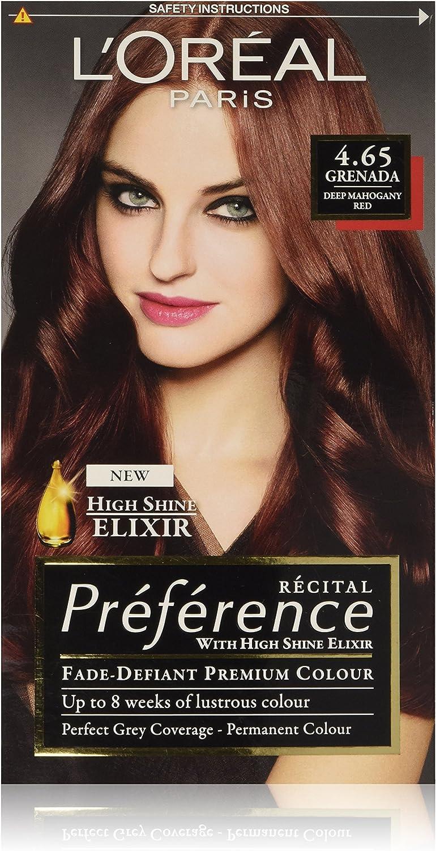 Loreal paris - Preference hair colourant, tinte para el pelo, grenada 4.65