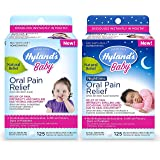 Hyland's Baby Day & Night Oral Pain Relief Tablets Bundle with Chamomilla, Soothing Natural Relief of Oral Discomfort, Irrita