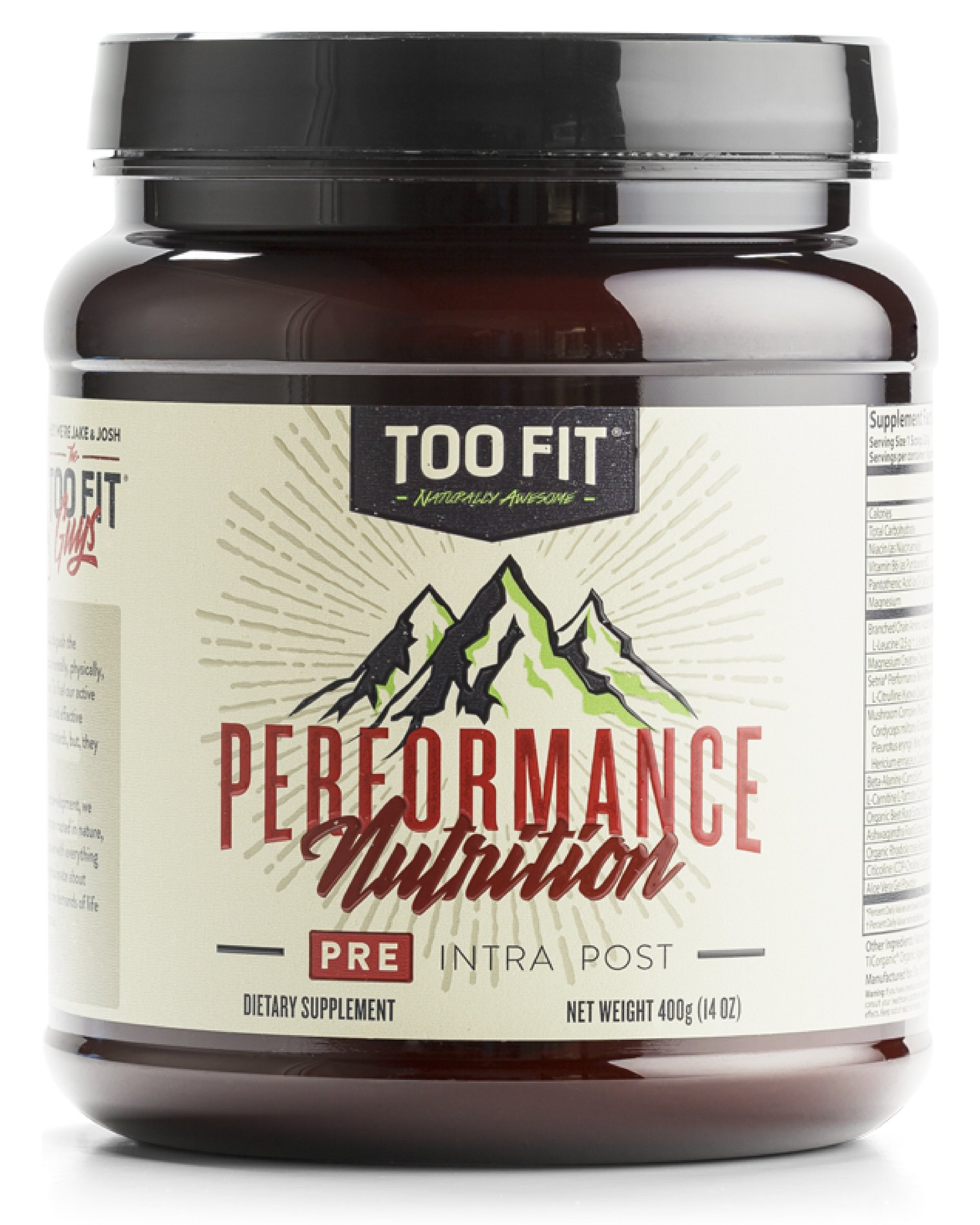 Too Fit ® PRE | All Natural Stimulant Free Pre Workout Supplement Drink Powder | Organic Adaptogens, BCAA's, Creatine Magnapower, Cognizin, Carnosyn, | Blackberry Lemonade, 20 Servings