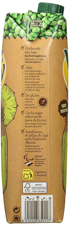 Vivesoy Zumo de Piña y Soja - 8 Recipientes de 1 l - Total: 8 l: Amazon.es: Alimentación y bebidas