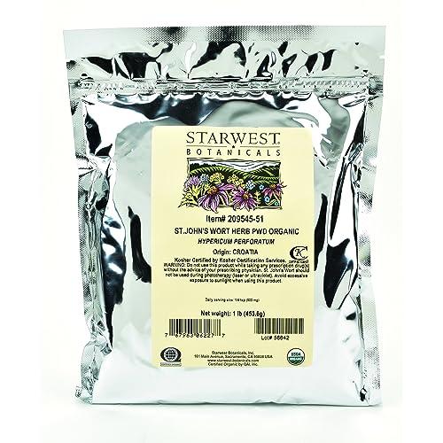 Starwest Botanicals Organic St. John s Wort Herb Powder, 1 Pound