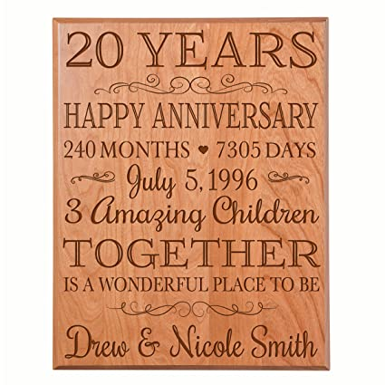 LifeSong Milestones Personalized 20th Ideas for Couple Happy 20 Year Wedding Gift for Her and  sc 1 st  Amazon.com & Amazon.com - LifeSong Milestones Personalized 20th Ideas for Couple ...