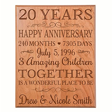 Amazon Personalized 20th Anniversary Gifts Ideas For Couple