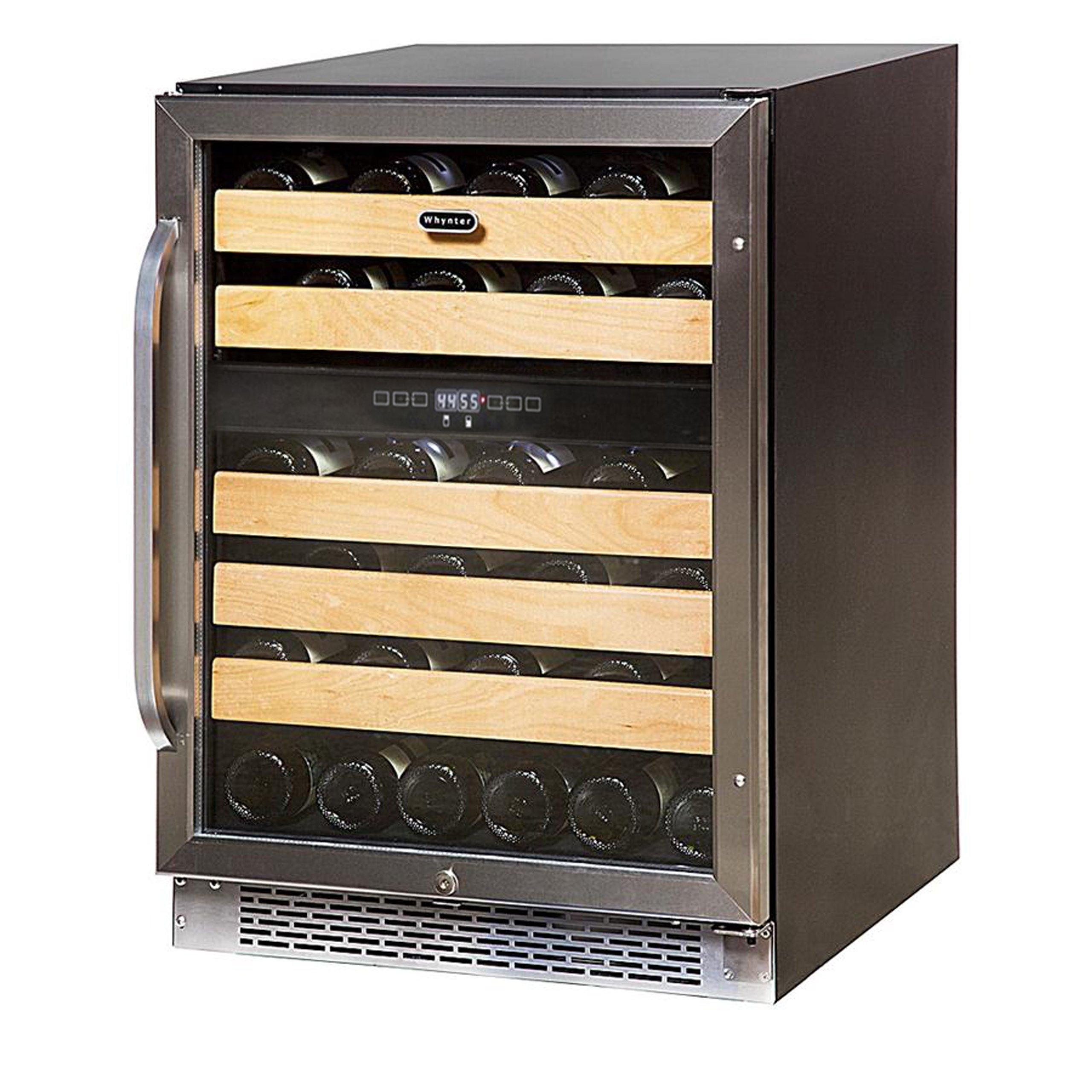 Whynter BWR-461DZ Dual Zone Built-In Wine Refrigerator, 46-Bottle