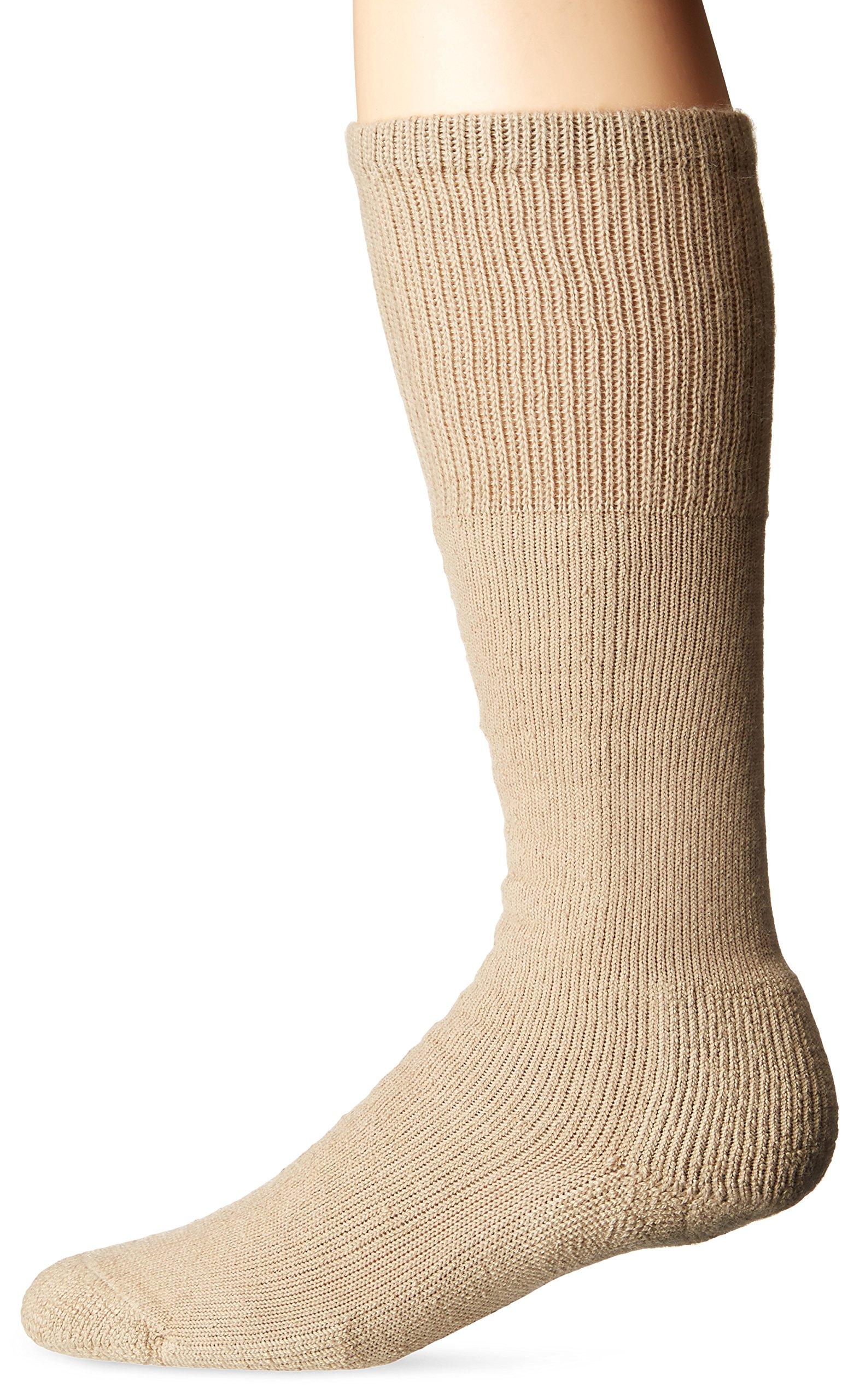 Thorlos Unisex WBO Work Thick Padded Over the Calf Sock, Sand, XLarge