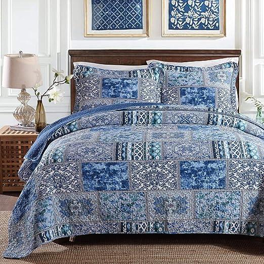 GJXY Bedspread Colcha de algodón Colcha para Cama Doble Patchwork ...