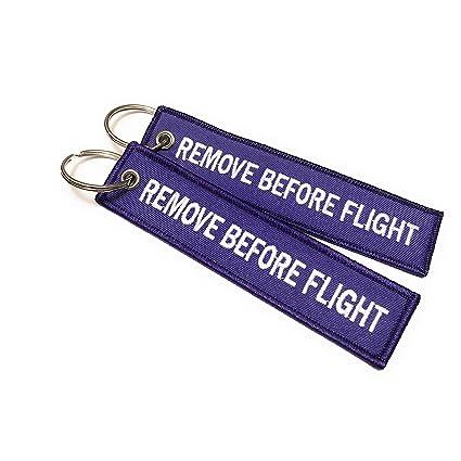 Etiqueta para equipaje con llavero. Con leyenda en inglés