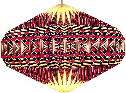 CmFaltlampenschirmeDeckenlampeHängeleuchte Guru Design Origami Modell Shop Papier Uforot22x47x47 Lampenschirm D9WEHI2