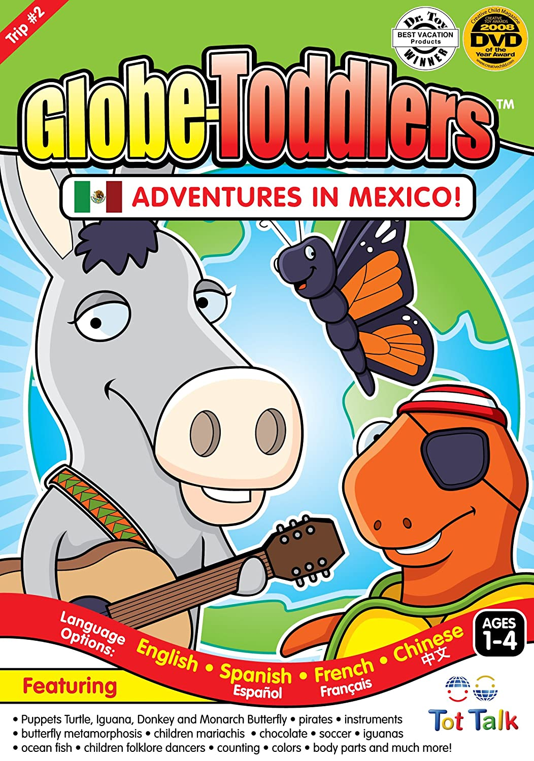 amazon com tot talk adventures in mexico dvd puppets turtle