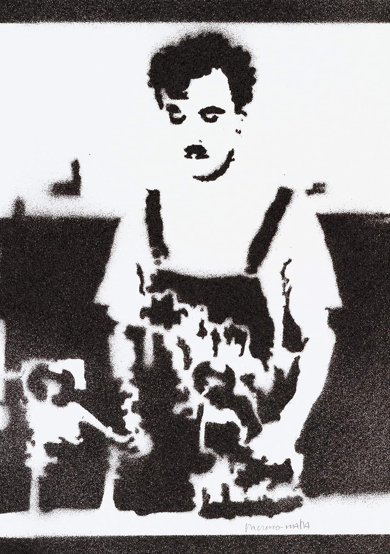 Póster Charlie Chaplin Charlot Tiempos Modernos Grafiti ...