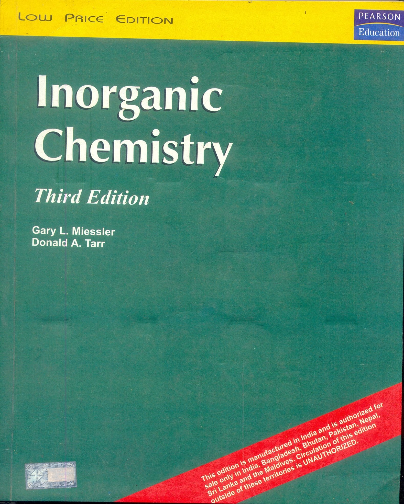 Mnl 8370 Inorganic Chemistry Miessler 2th Edition Solutions Manual