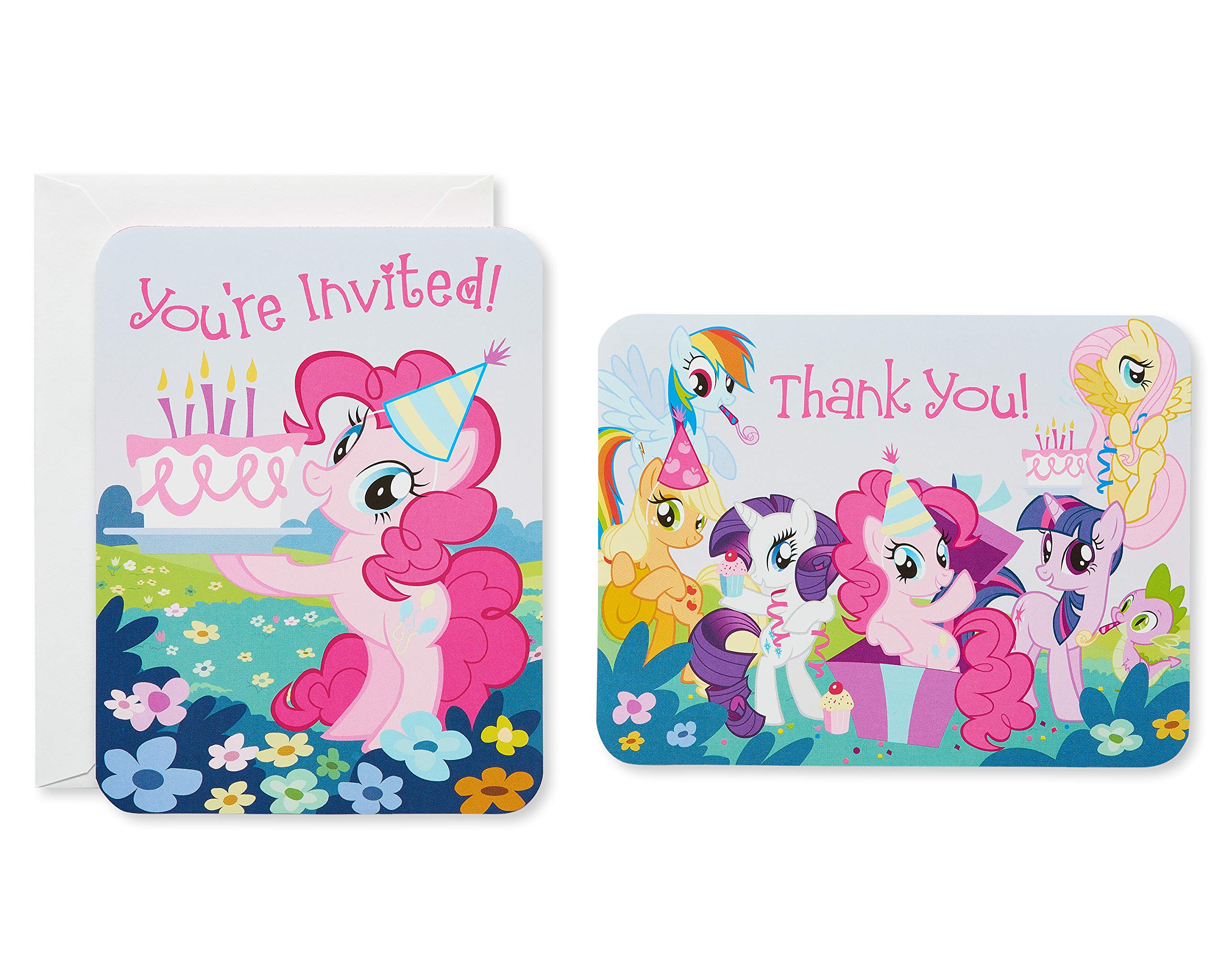 American Greetings My Little Pony Invite and Thank-You Combo Pack, 8-Count
