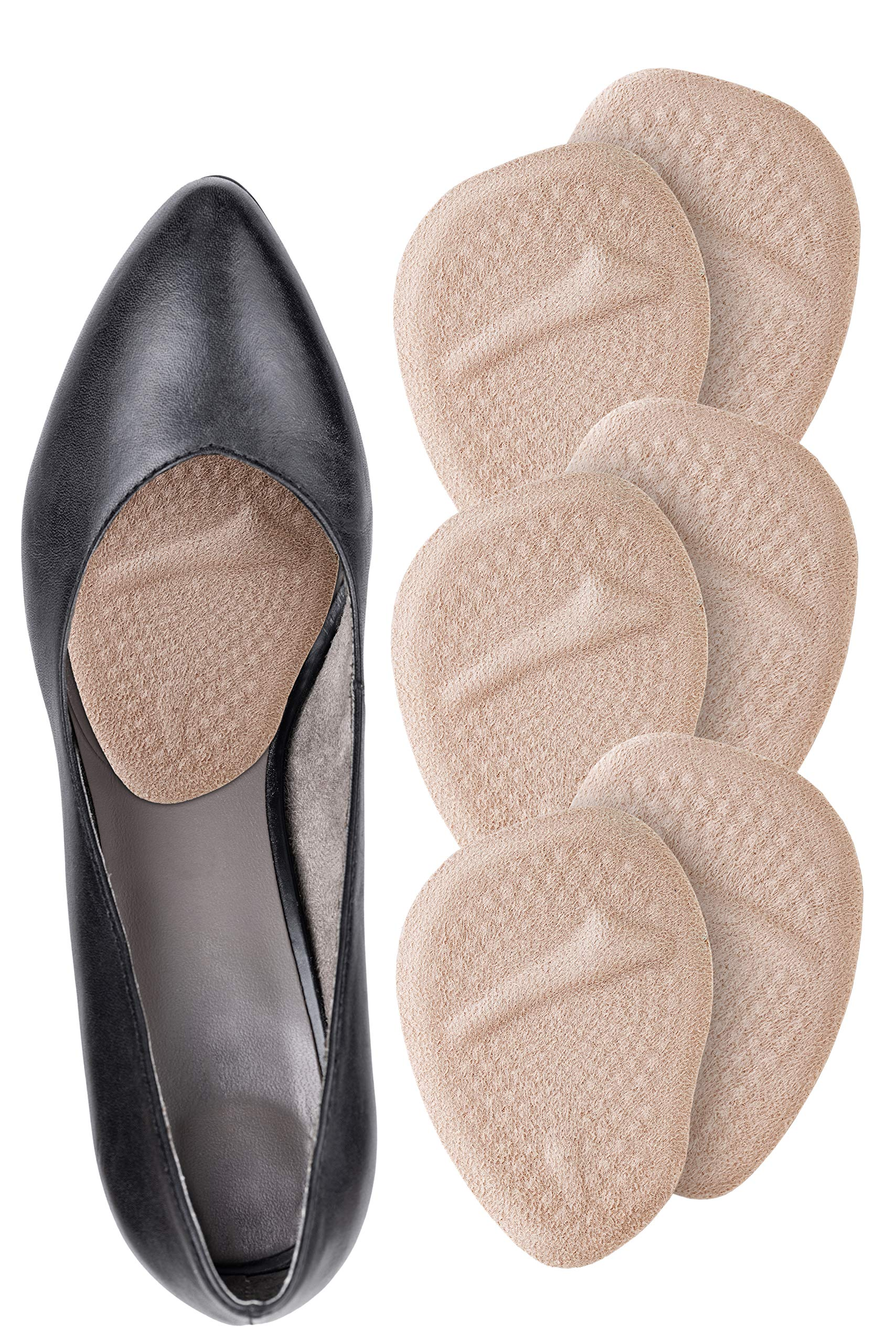 Ball of Foot Cushions for Women High Heels - 3 Pairs (6 Pieces) - Soft Gel Insole Metatarsal Pads Shoe Inserts - Mortons Neuroma Callus Metatarsal Foot Pain Relief Bunion Forefoot Cushioning