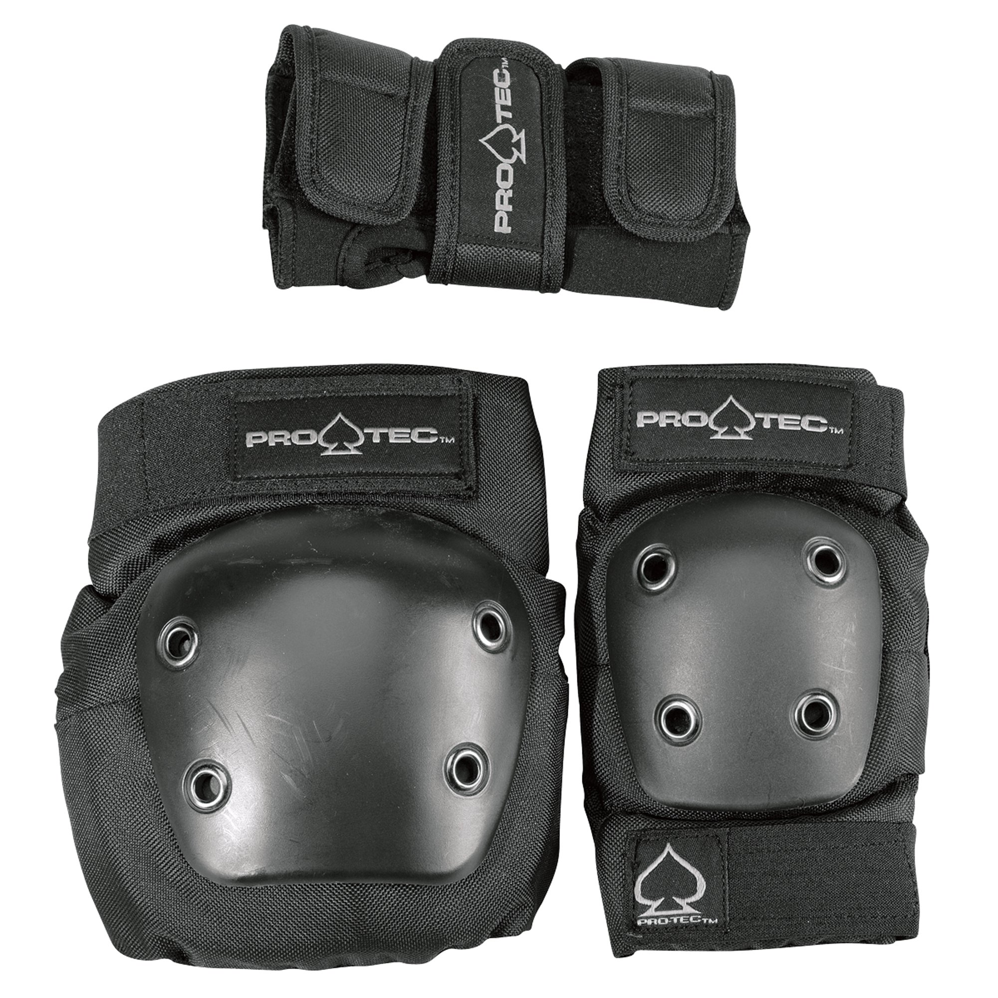 Pro-Tec Street 3-Pack Elbow, Knee, and Wrist Pad Combo - Black (Youth Small)