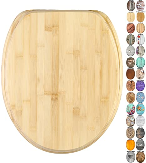 Wondrous High Quality Toilet Seat Wide Choice Of Wooden Toilet Seats Stable Hinges Easy To Mount Bamboo Gmtry Best Dining Table And Chair Ideas Images Gmtryco