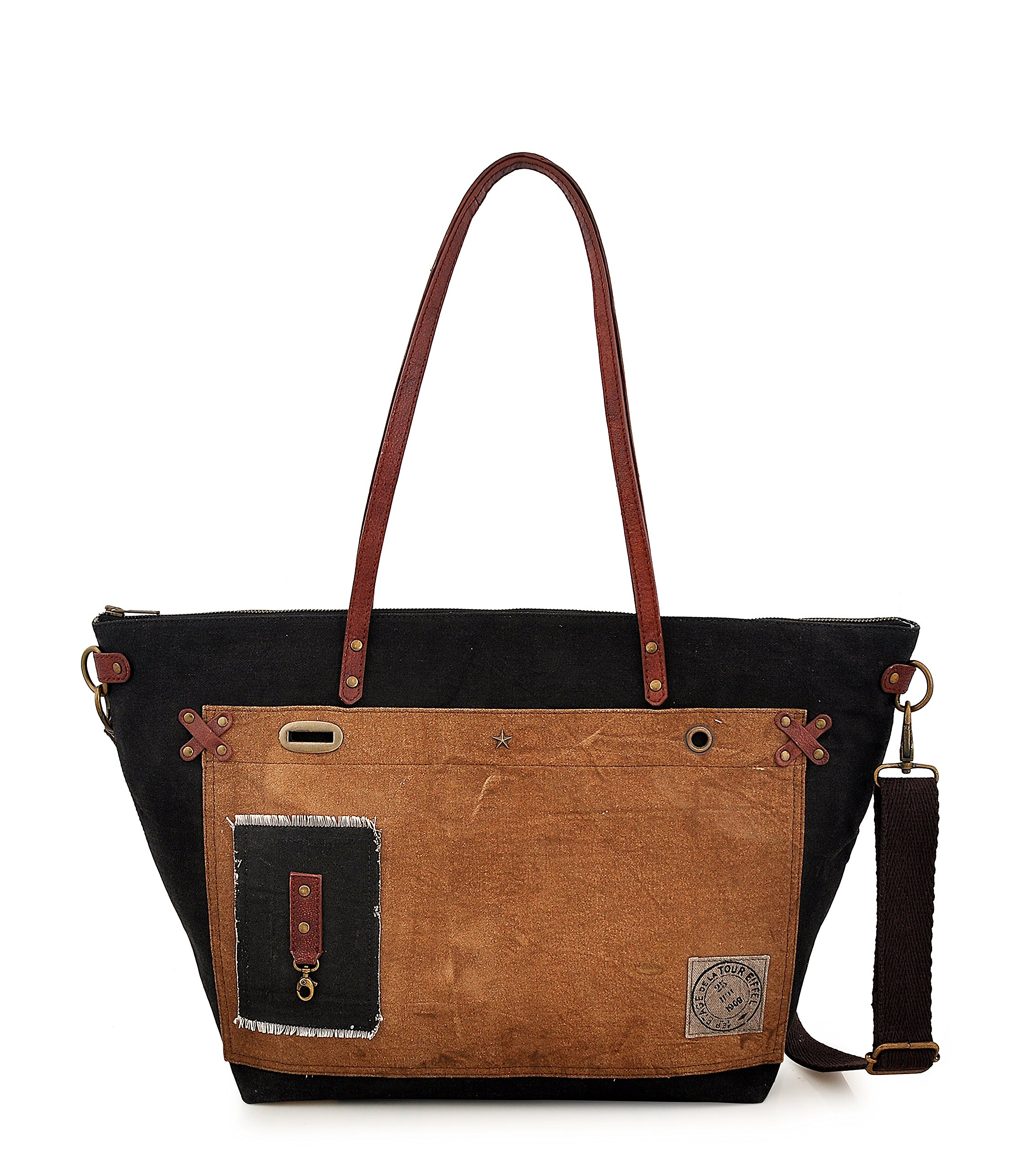 Tote bag for Women, Unique Design, Made of Canvas and Leather, Eco friendly bag, Handbags for Women by Daphne (Vitamin Sea) by Daphne's Headcovers (Image #2)