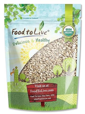 Alimentos a Live orgánico Semillas de girasol (hulled) (1 ...