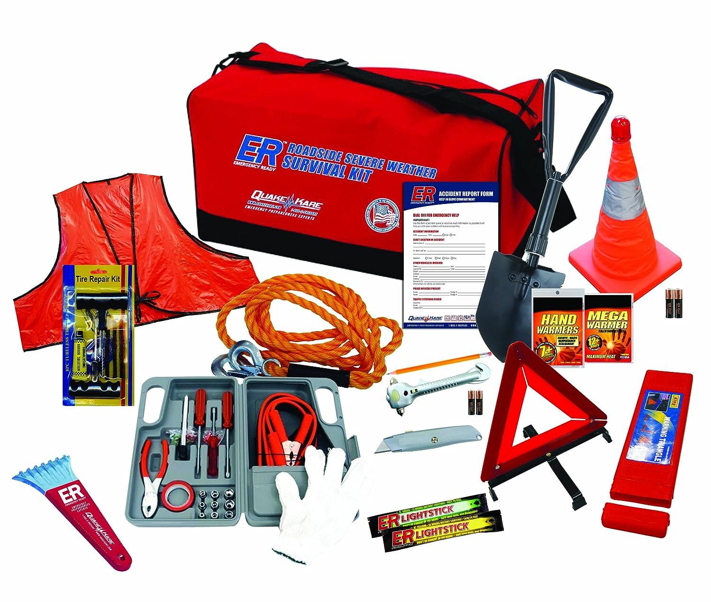 ER Emergency Ready Er Notfall Bereit Ultimate Deluxe Straße und extreme Wetter Notfall Kit