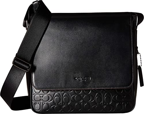 264397eb00 Amazon.com  COACH Men s Metropolitan Map Bag in Signaure Leather Black One  Size  Shoes