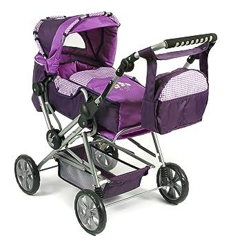 Amazon.es: Bayer Chic 2000 nbsp;562 28 Kombi Roadstar Checker - Carrito de bebé para muñeca, color lila: Juguetes y juegos