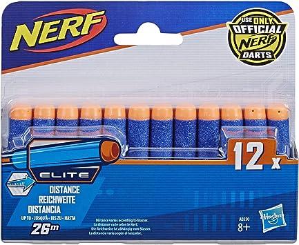 Nerf - Pack de 12 Dardos Elite (Hasbro A0350492): Amazon.es: Juguetes y juegos