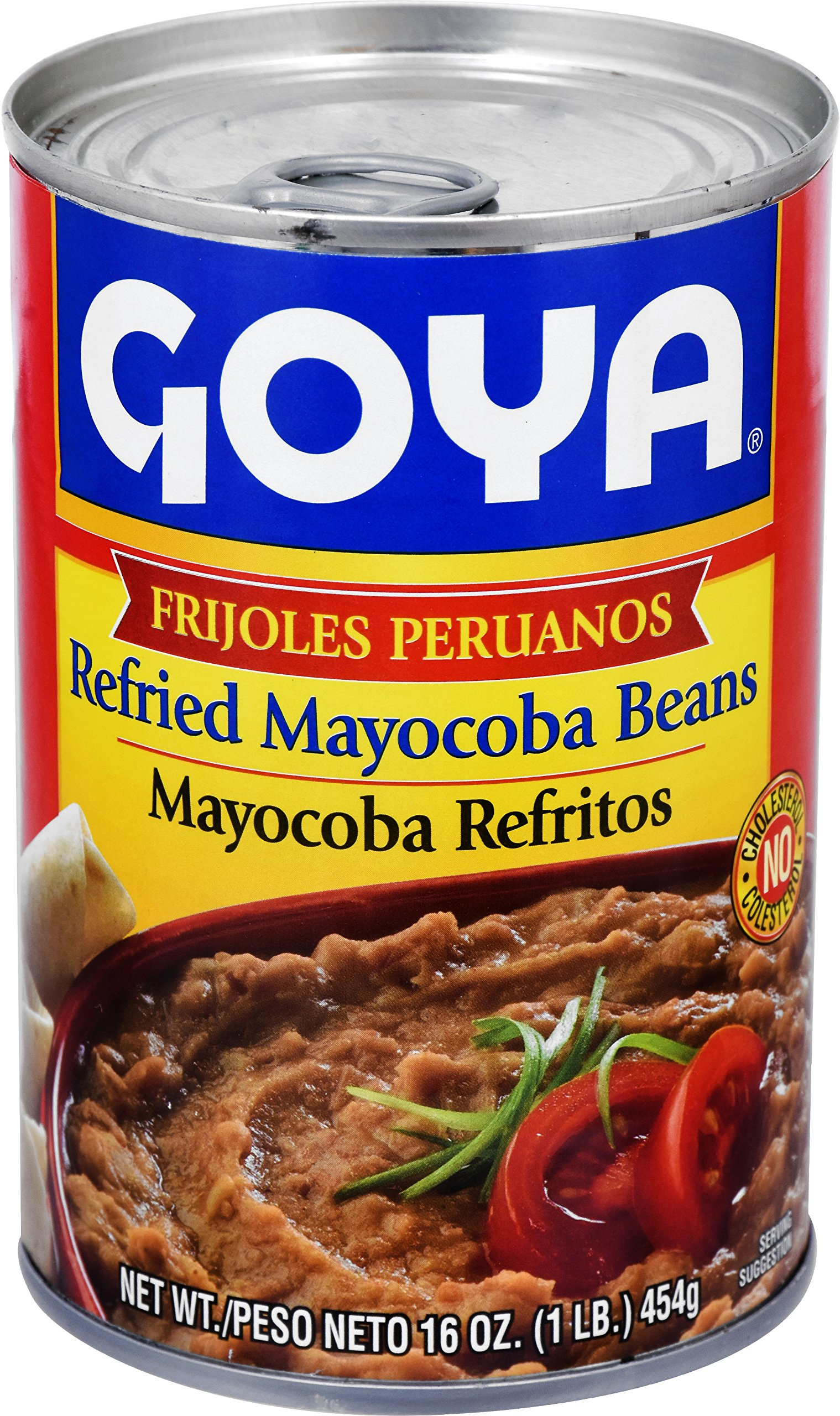 Goya Foods Refried Mayocoba Beans, 16 Ounce (Pack of 12)