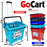 dbest products GoCart,Teal Grocery Cart Shopping