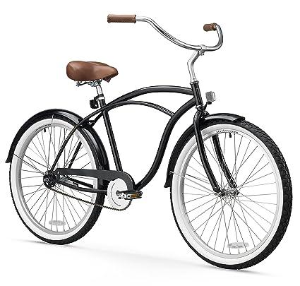 e439a331661 Amazon.com : sixthreezero Men's BE Single Speed Beach Cruiser Bicycle,  Black, 26