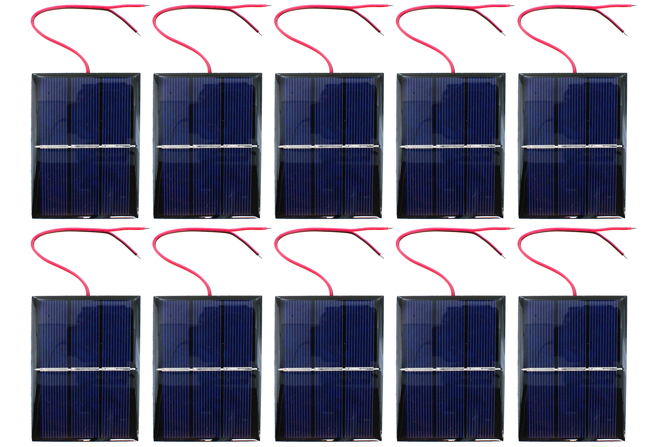 10 Pack xUmp Solar Cells - 1.5V 400mA 80x60mm - for Science, STEM, Hobby and Electronics Projects by xUmp.com