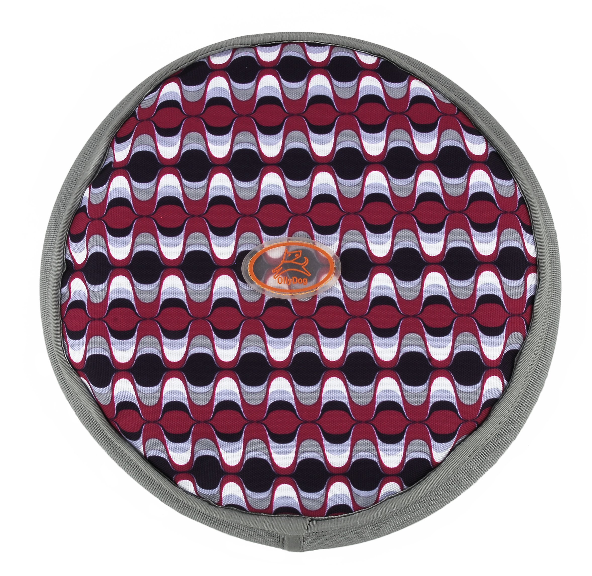 OllyDog OllyFlinger Flying Disc, Medium, Wine Mod