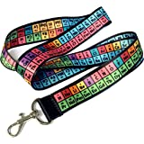 Rainbow Lanyard, Periodic Table of Elements Chemistry