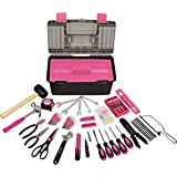 Apollo Tools DT7102P 170 Piece Complete Household Tool Kit with Large Heavy Duty Tool Box Pink Ribbon
