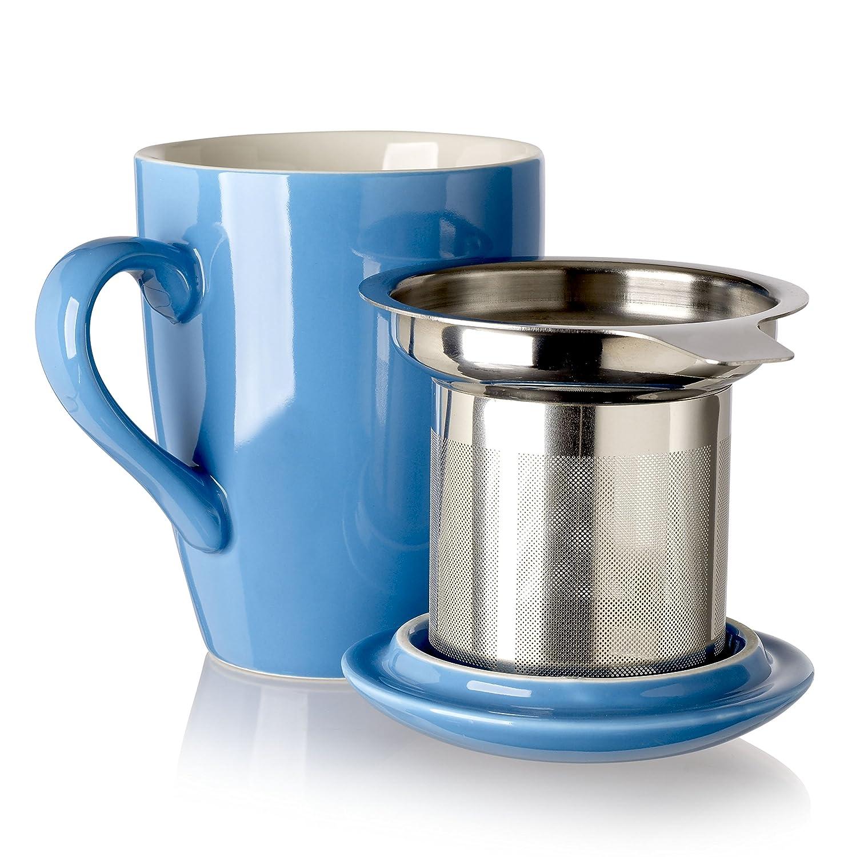 Adagio Teas 10084 Porcelain Mug with Infuser, 12 oz, Barn