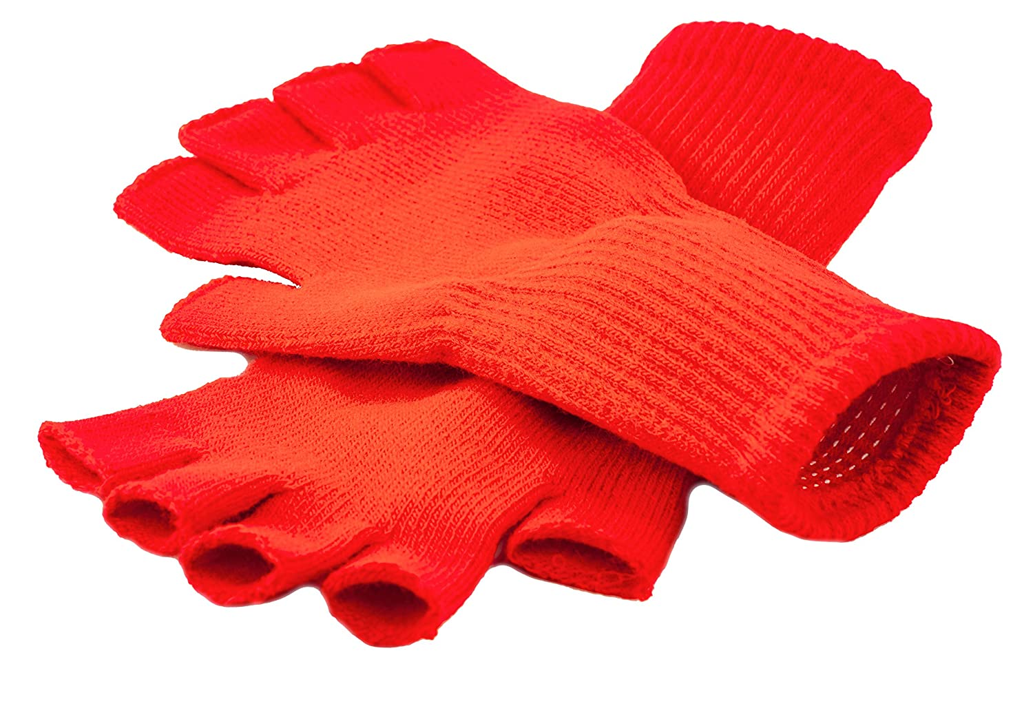 Funny Guy Mugs Warm Stretchy Knit Fingerless Gloves for Women and Men, Multiple Colors Available, One Size Fits Most Blue Glove-5