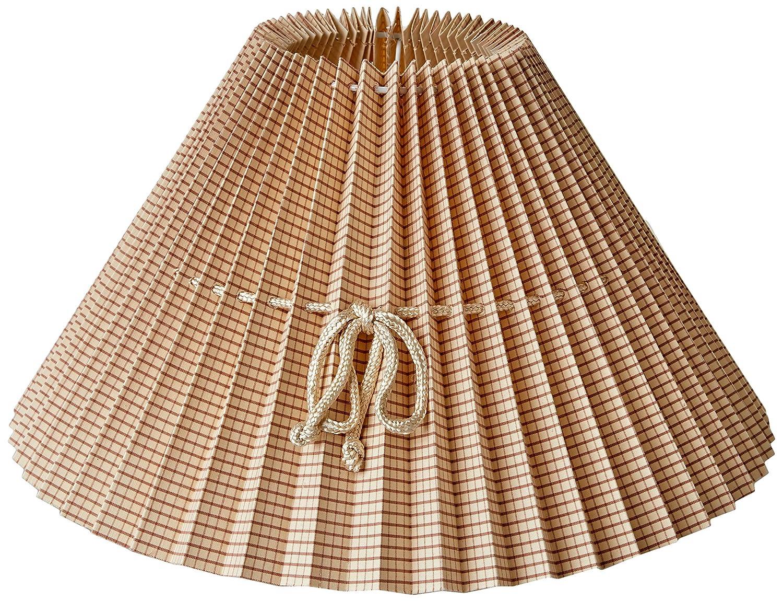Tipo Francesa Redonda Color caldero a cudraditos de 40 cm Better /& Best 40Cm Cuadritos Pantalla de l/ámpara de algod/ón