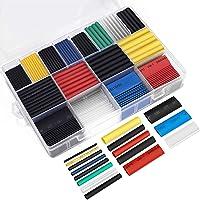 Deals on Ginsco 580pcs 2:1 Heat Shrink Tube 6 Colors 11 Sizes Tubing Set
